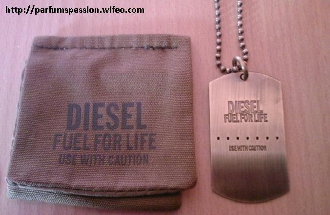 collier homme plaque militaire diesel
